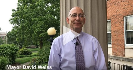 Screen from video of Mayor Weiss