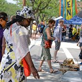 Shoppers at Larchmere Festival