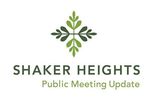 Public Meetings Update logo for City of Shaker Heights