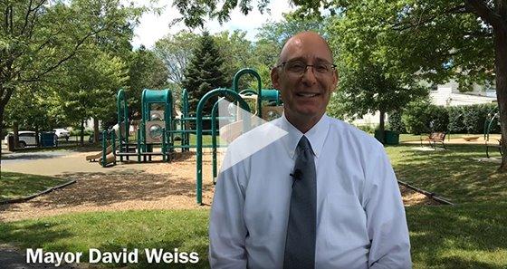 Video screen capture of Mayor Weiss's July Mayor's Report video