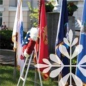 Honor guard flags
