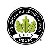 Logo for the U.S. Green Building Council LEED program