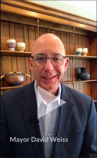 Still from Mayor's Report video featuring Mayor David Weiss