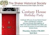 Shaker Historical Society's Century House Birthday Party