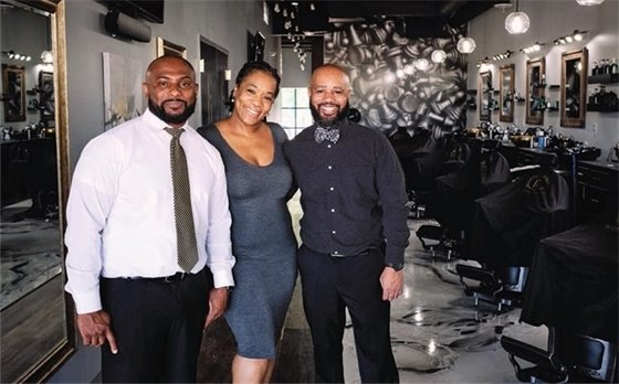 Owners of The Gentlemen's Cave Luxury Barber Lounge