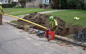 Dominion Ohio crews working on gas main