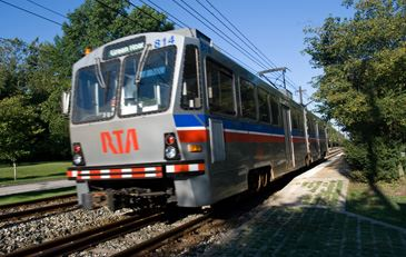 Rapid train in Shaker Heights