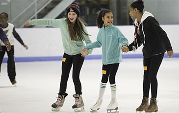 Three Kids Ice Skating