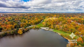 Thumbnail of drone photo over Horseshoe Lake in the fall